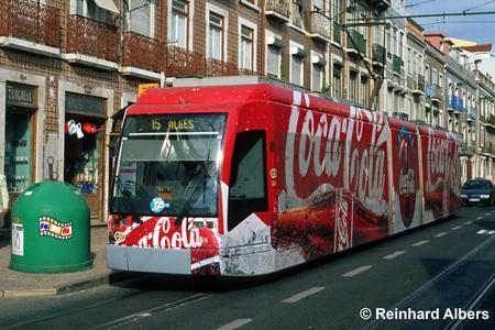 Lissabon - moderne Straßenbahn, Lissabon, Straßenbahn