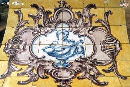 Queluz - Azulejos im Schlosspark, Lissabon, Azulejos, Queluz, Schloss, Park