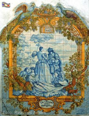 Produktbeispiel aus der Fabricia Sant Ana, einer Azulejos Manufaktur., Lissabon, Azulejos,