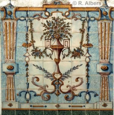 Produktbeispiel aus der Fabricia Sant Ana, einer Azulejos Manufaktur., Lissabon, Sant, Anna, Azulejos