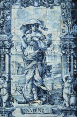 Produktbeispiel aus der Fabricia Sant Ana, einer Azulejos Manufaktur., Lissabon, Azulejos