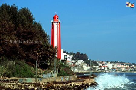 Leuchtturm bei Oeiras an der Tejo-Mündung, Lissabon, Oeiras, Tejo, Leuchtturm