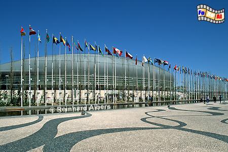 Die Multifunktionshalle auf dem Expogelände von 1998., Lissabon, Lisboa, Expo, Architektur, Sporthalle,