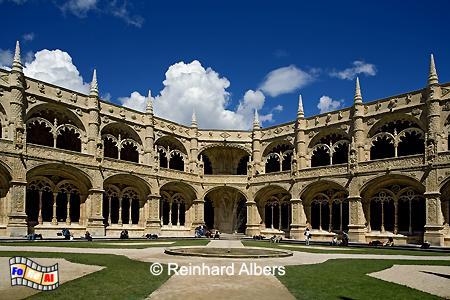Kreuzgang im Jeronimokloster., Lissabon, Belém, Jeronimo, Kloster, Kreuzgang, Manuelismus, Albers, Foto, foreal