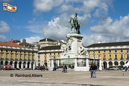 Praça do Comércio, der 180 m x 190 m große Platz gilt als Empfangssalon der Stadt., Portugal, Lissabon, Praça, Comércio, Paço, Albers, foreal, Foto