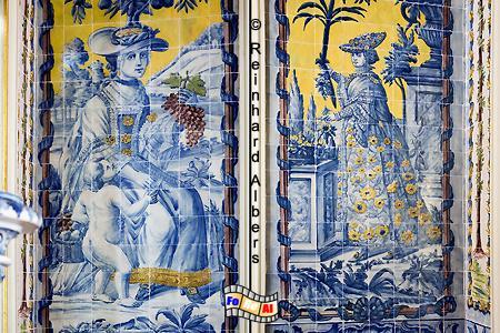 Azulejos im Schloss von Queluz, Lissabon, Queluz, Schloss, König, Azulejos