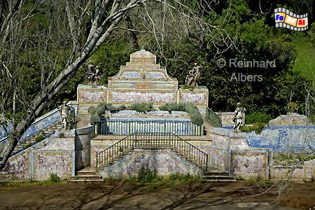 Queluz - Schlosspark, Lissabon, Queluz, Park, Schloss, Azulejos, Albers, Foto, foreal