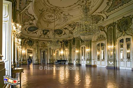 Queluz - Spiegelsaal im Schloss, Lissabon, Queluz, Schloss, Spiegelsaal, Albers, foreal, Foto