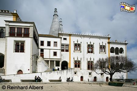 Sintra - Königsschloss (Paço Real oder Palácio Nacional de Sintra), Portugal, Sintra, Schloss, Königsschloss