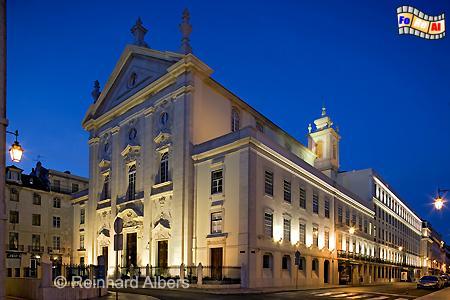 Igreja São Julião neben dem Rathaus, Lissabon, Kirche, Igreja, Julião, Albers, Foto, foreal