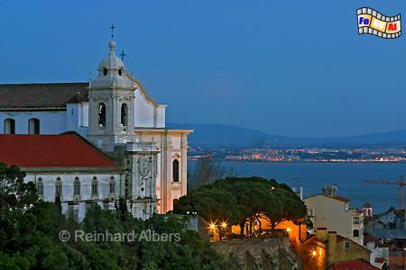 Lissabon - Aussichtspunkt (Miradouro) da Graça und Kirche Nossa Senhora da Graça., Lissabon, Miradouro, Graça, Aussichtspunkt, Albers, Foto, foreal