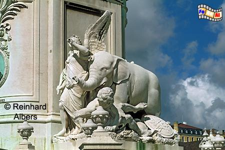 Praça do Comércio - Sockel des Denkmals für König José I., Lissabon, Praça, Comércio, Platz, José, Denkmal, Albers, Foto, foreal