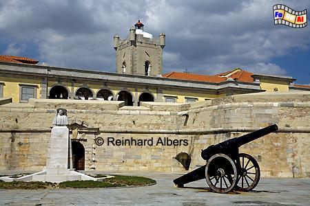 Fortaleza de São Julião da Barra, Lissabon, Tejo, Fortaleza, Barra, Leuchtturm Farol, Albers, Foto, foreal