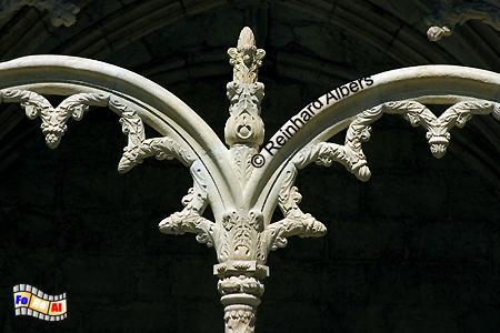 Jeronimokloster - Kreuzgang. Im Stil des Manuelismus verzierte Bögen., Lissabon, Belém, Jeronimo, Kloster, Kreuzgang, Manuelismus, Albers, Foto, foreal