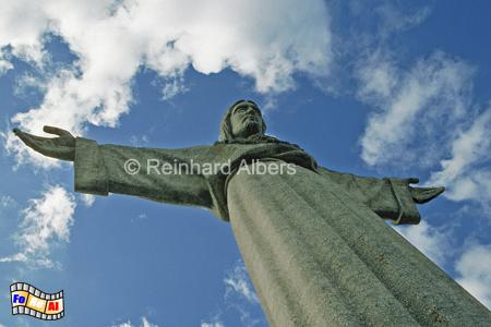28 m hohe Christus-Statue aus dem Jahr 1959 am Südufer des Tejo., Lissabon Christus, Statue, Cristo, Rei,