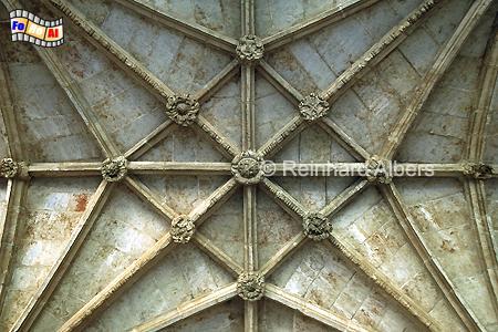 Jeronimokloster - Gewölbe im Kreuzgang, Lissabon, Belem, Kloster, Jeronimo, Kreuzgang, Maunelismus, Albers, foreal, Foto