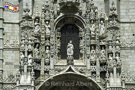 Jeronimokloster - reich verziertes Eingangsportal an der Südfassade., Lissabon, Belem, Mosteiro, Jeronimo, Kloster, Manuelismus, Albers, foreal, Foto