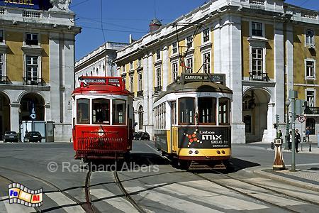 Lissabon - Historische Straßenbahnen, Lissabon, Straßenbahn, Oldtimer, Electricos, Albers, Foto, foreal