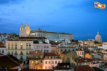 Lissabon - Kirche + Kloster São Vicente de Fora (links) und im Hintergrund rechts ist die Kuppel des Pantheons zu erkennen., Lissabon, Vinzenz, Vicente, Kirche, Schutzpatron, Pantheon, Albers, foreal, Foto