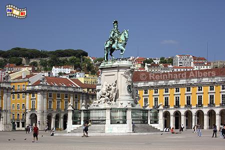 Praça do Comércio, der 180 m x 190 m große repräsentative Platz befindet sich am tejo-Ufer mitten in der Stadt. , Portugal, Lissabon, Praça, Comércio, Paço, Albers, foreal, Foto