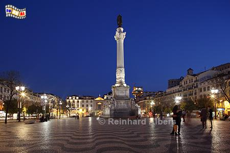 Praça de Dom Pedro IV. genannt Rossio, Portugal, Lissabon, Rossio, Pedro IV., Praça, Albers, foreal,