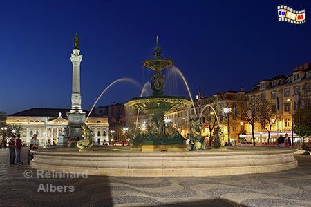 Praça de Dom Pedro IV. genannt Rossio., Portugal, Lissabon, Rossio, Pedro IV., Praça, Albers, foreal,