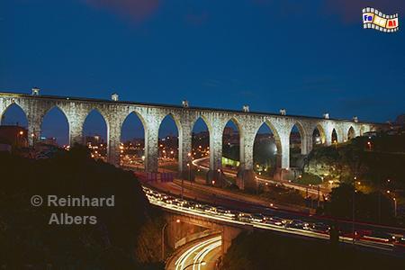 Aqueduto das Aguas Livres, erbaut 1731 bis 1748. Länge 941 m mit 35 Bögen., Lissabon, Aquädukt, Aqueduto, Wasser, Foto, foreal, Albers,