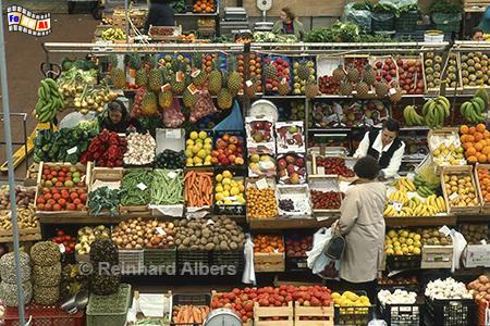 Lissabon - Markthalle, Lissabon, Markthalle, Mercado, Obst, Auslagen, Albers, Foto, foreal,