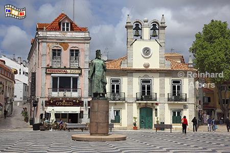 Cascais - Rathausplatz, Portugal, Cascais, Rathausplatz, Plasterung, Muster, Wellen, Albers, Foto, foreal,