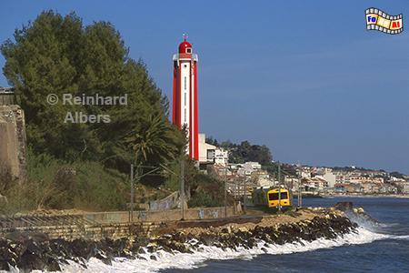 Leuchtturm bei Oeiras an der Tejo-Mündung, Lissabon, Oeiras, Tejo, Leuchtturm, Farol, Albers, Foto, foreal,