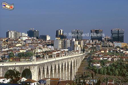 Aqueduto das Aguas Livres, erbaut 1731 bis 1748. Länge 941 m mit 35 Bögen., Lissabon, Aquadukt, Aqueduto, Wasser, Albers, Foto, foreal,
