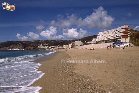 Sesimbra Strand, Portugal, Sesimbra, Arrabida, Gebirge, Strand, Albers, Foto, foreal,