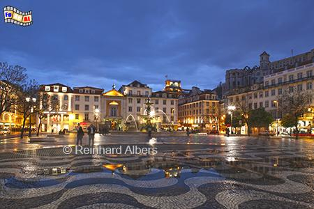 Rossio , Portugal, Lissabon, Rossio, Praca dom Pedro, Albers, foreal,