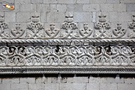 Torre de Belem - Verzierungen im manueliniischen Stil, Lissabon, Belém, Torre, Turm, Manuelismus, Albers, Foto, foreal
