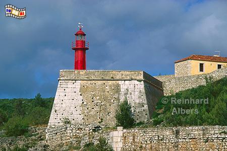 Sesimbra - Festung am Strand mit Leuchtturm, Portugal, Sesimbra, Festung, Strand, Atlantik, Leuchtturm, Albers, Foto, foreal,