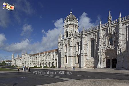 Die Südfassade des Jeronimoklosters, Lissabon, Belem, Mosteiro, Jeronimo, Kloster, Manuelismus, Albers, foreal, Foto,