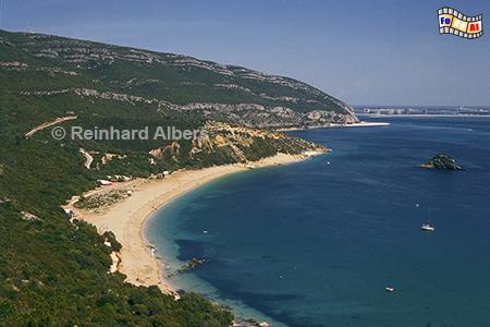 Arrabida-Gebirge südlich von Lissabon, Portugal, Arrabida, Gebirge, Portinho, Atlantik, Bucht, Albers, Foto, foreal,