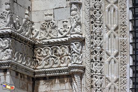 Jeronimokloster - Fassadenverzierung., Lissabon, Belem, Mosteiro, Jeronimo, Kloster, Manuelismus, Albers, foreal, Foto