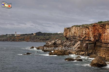 Felsenküste bei Cascais, Portugal, Felsenküste, Klippen, Steilküste, Atlantik, Cascais, Albers, Foto, foreal,