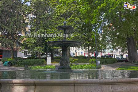 Praça da Alegria mit dem Jardim Alfredo Keil, zur an den Komponisten der portuguiesischen Nationalhymne.., Portugal, Praça da Alegria, Lissabon, Alfredo, Kiel, Nationalhymne, Albers, Foto, foreal,