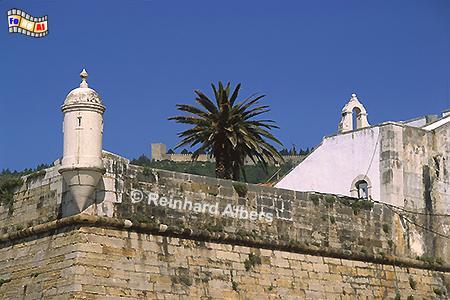 Sesimbra - Festung am Strand, Portugal, Sesimbra, Festung, Strand, Atlantik, Albers, Foto, foreal,