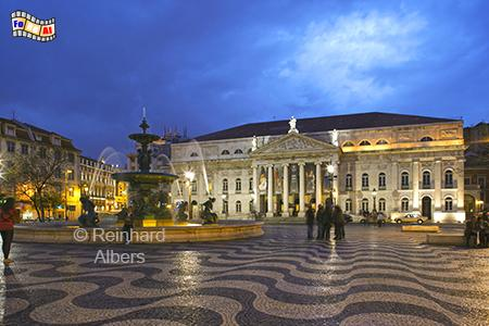 Nationaltheater am Rossio, Portugal, Lissabon, Rossio, Theater, Albers, foreal,