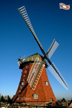 Lauenburg an der Elbe, erbaut 1871-73., Windmühle, Schleswig-Holstein, Lauenburg