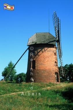 Freilichtmuseum Dziekanowice in Polen am Lednica-See., Windmühle, Polen, Dziekanowice, Lednica-See