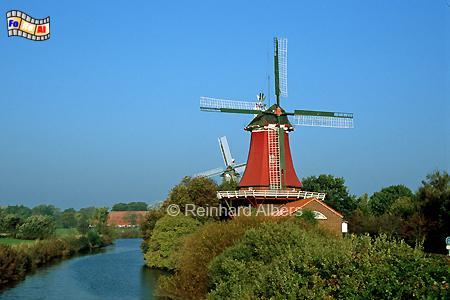 Greetsiel - Zwillingsmühlen, Windmühle, Greetsiel, Ostfriesland, Zwillingsmühlen