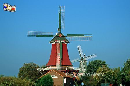 Zwillingsmühlen in Greetsiel, Windmühle, Zwillingsmühlen, Greetsiel