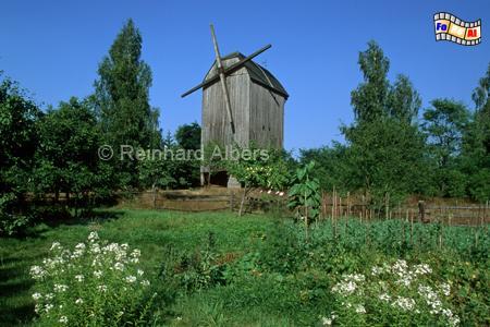 Kaschubisches Freilichtmuseum bei Wdzydze Kiszewskie (Sanddorf), Windmühle, Polen, Kaschubien, Kaschubische Schweiz, Wdzydze