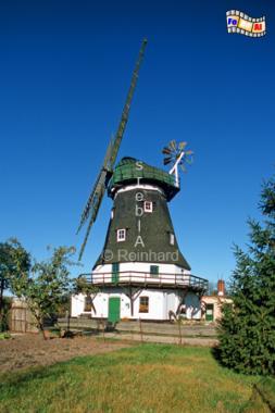 Die Grevesmühlener Mühle von 1878 in Mecklenburg-Vorpommern ist nach ihren Standort benannt., Windmühle, Mecklenburg-Vorpommern, Grevesmühlen