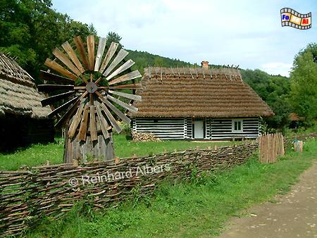 Polen - Ethnografischer Park (Freilichtmuseum) in Sanok., Windmühle, Polen, Freilichtmuseum, Skansen, Ethnografischer Park, Sanok