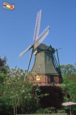 Nordermühle in Meldorf in Dithmarschen, Windmühle, Meldorf, Dithmarschen, Nordermühle